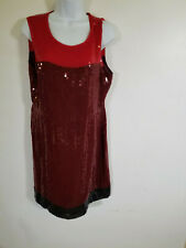 DKNY Red Sequin Dress, Size 12
