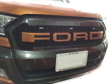 Front Grille Grill Orange LED Logo For Ford Ranger Wildtrak Facelift MK2 16 17