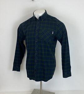 Carhartt Shawn Shirt Blue & Green Plaid Check Sz Large Mens