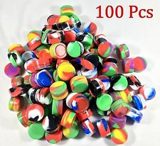 100 5ml Silicone Jar Containers NonStick Mixed Color New 5 ml Wholesale lot