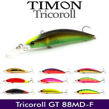 JACKALL TIMON TRICOROLL GT 88DM-F FLOATING FISHING BAIT MINNOW LURE 88mm 10.8g