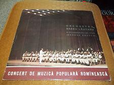 Concert De Muzica Populara Romaneasca Barbu Lautaru 1962 Romania Import FastShip