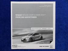 Renault Megane Coupe RS GT Bose Edition - Preisliste - Prospekt Brochure 01.2011