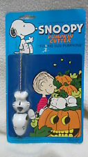 Vintage 1988 Snoopy/Peanuts/Charlie Brown pumpkin cutter ~ NIP