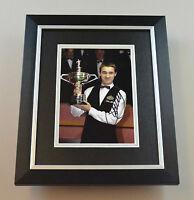 Stephen Hendry Signed 10x8 Photo Framed Snooker Memorabilia Autograph Display