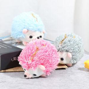 12CM Plush Hedgehog Toys Key Chain Ring Pendant Plush Toy Animal Stuffed ToHFUK