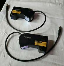 Lot of (2) LJ-G200 Keyence Laser Displacement Sensors - Clean & Tested!