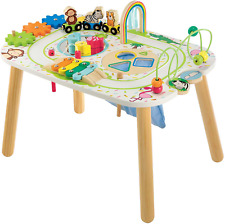 Early Learning Centre Wooden Activity Train Table, Hand Eye Coordination Trainin