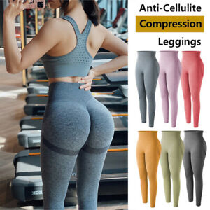 Women's Push Up Yoga Leggings Sport Pants High Waist Stretch Ruched Gym Fitness