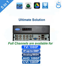 1080P HD AHD DVR 8CH 5-in-1 Support TVI/CVI/AHD/Analog/IP Camera, IP Max 6MP