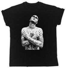 TATTOO BOY ZOMBIE BOY BIRTHDAY PRESENT SUMMER SHORT SLEEVE BLACK MEN T-SHIRT