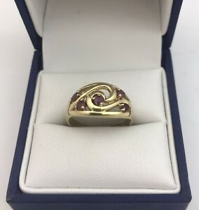 9ct Gold & Ruby Ring.  Size N