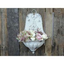 Chic Antique Pflanzschale Brunnen Metall Anticreme Shabby Vintage Nostalgie Deko