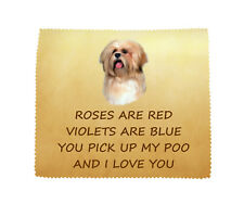 Lhasa Apso I LOVE YOU Microfibre Cloth Fun Novelty Thank You Gift FROM THE DOG