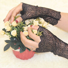 Party Costume Party Costume Lace geometry Flower Gloves Fingerless Bridal