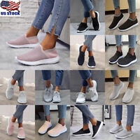 Womens Sneakers Casual Breathable Tennis Trainers Lace Up Athletic Shoes Size US