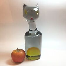 Antonio Da Ros For Gino Cenedese Sommerso Cat Sculpture LARGE smoked Glass
