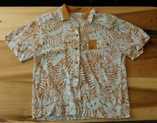 Vtg 70s HIPPY DISCO SHIRT BLOUSE Hawaiian  KORET MOD Rayon Blend Loop Collar Cam
