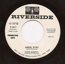 MARK MURPHY  Angel Eyes  Mod Jazz Soul Popcorn 45 on Riverside wlp  Listen