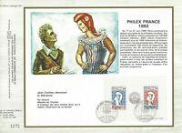 Foglio CEF 1er Giorno Francia Philexfrance 1982