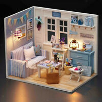1/24 DIY Miniature Dollhouse Kit W / Modèle De Meubles Cadeau Enfants