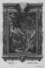 Incisione su rame originale da Physica Sacra (1735-8) - Vox Domini