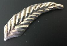 10.6gr Feather Brooch Mexico Vtg Laton 925 Sterling Silver