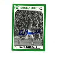 Earl Morrall Michigan State MSU Spartans football signed card Miami Dolphins NFL