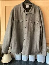 Mans Grey Fleck Quilted Jacket Size  XXL From Tu