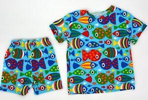 Tolles Baby Handmade Set Hose Shirt Größe 86 92 Fische