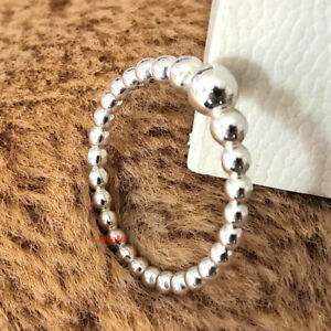 NEW 100% Authentic 925 Sterling Silver Purely String of Beads Ring