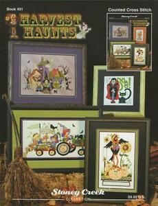 Harvest Haunts BK401 by Stoney Creek cross stitch pattern