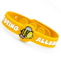 Insect Sting Allergy Medical Alert Bracelet for Children. Fits 4 1/2 - 6 Inch