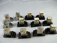 (9) GOULD SL 715 RELAY BASE SOCKETS WITH STRUTHERS-DUNN 24VDC RELAYS & 3 OTHERS