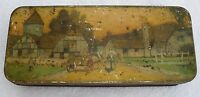 Vintage Kemps Biscuit Tin - English Pastoral Scene - Advertising Display