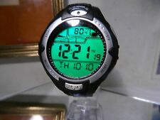 Big Mens LL Bean Digital Alarm Chrono WR165 UV/Temp Sensor Watch 2 Year Warranty