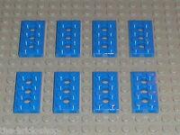 LEGO blue technic plates 2 x 4 ref 3709b / 7664 9649 857 9630 8668 8042 852 954