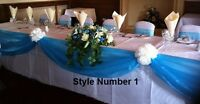 Cake Table Decoration Kit  Bows Swags Personalised Any Colour Wedding Decor