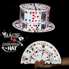 Card fan to top hat - Transformation éventail de cartes en chapeau MAGIE
