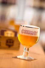 4 NEW CHIMAY BELGIUM GOBLET/CHALICE BEER .33L/11.2oz GLASSES WITH FREE T-SHIRT