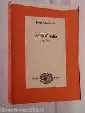 UNITA D ITALIA Saggi storici Luigi Salvatorelli Einaudi Risorgimento Storia di e