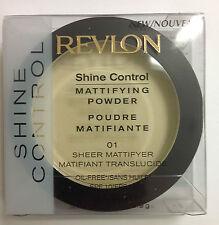Revlon Shine Control Mattifying Powder SHEER MATTIFYER # 01 SPF10 NEW.