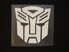 SET OF FOUR TRANSFORMERS OPTIMUS PRIME AUTOBOT DECALS STICKERS WHT RED BLCK BLUE