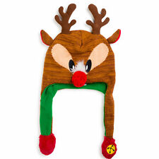 ABG Accessories Ugly Christmas Reindeer Squeeze and Flap Fun Hat, Unisex, 4-7