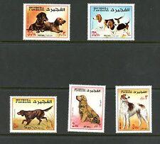 Fujeira 1970   #Mi602-6   dogs     5v.  MNH  K661