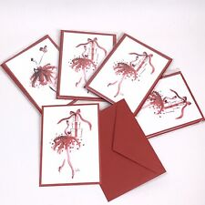 Lot Of 12 Estee Lauder Blank Note Cards Holiday Greeting Cards