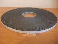 15 M Negro Espuma de doble cara cinta de células cerradas 10 mm de ancho x 4.5 mm Coche/Acristalamiento