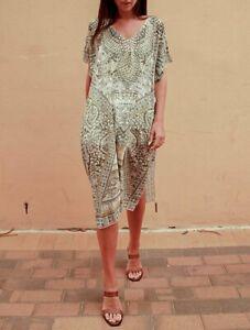 Bohemian Kaftan Tunic Resortwear/Beach/HolidayWear NWT Free Size 10-18 (CM0065)