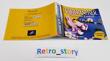 Nintendo Game Boy Advance GBA Pink Panther : Pinkadelic Pursuit Notice / Manual