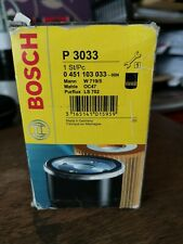 Bosch Car Oil Filter P3033 Volkswagen Golf - 1.8 - 89-92 (0451103033)